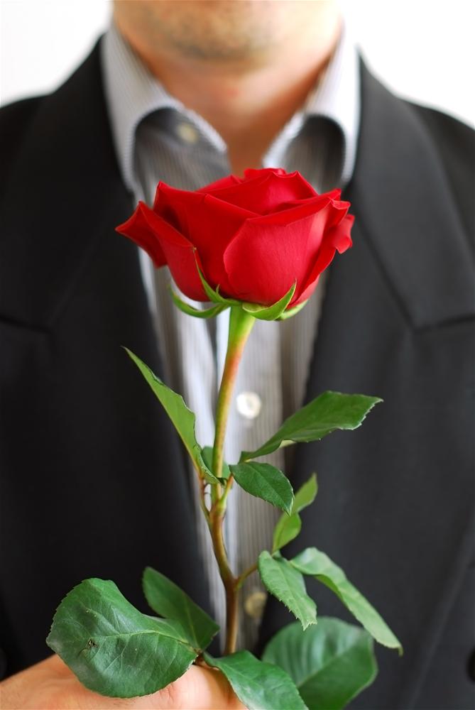 парень с одной розой в руках фото можете