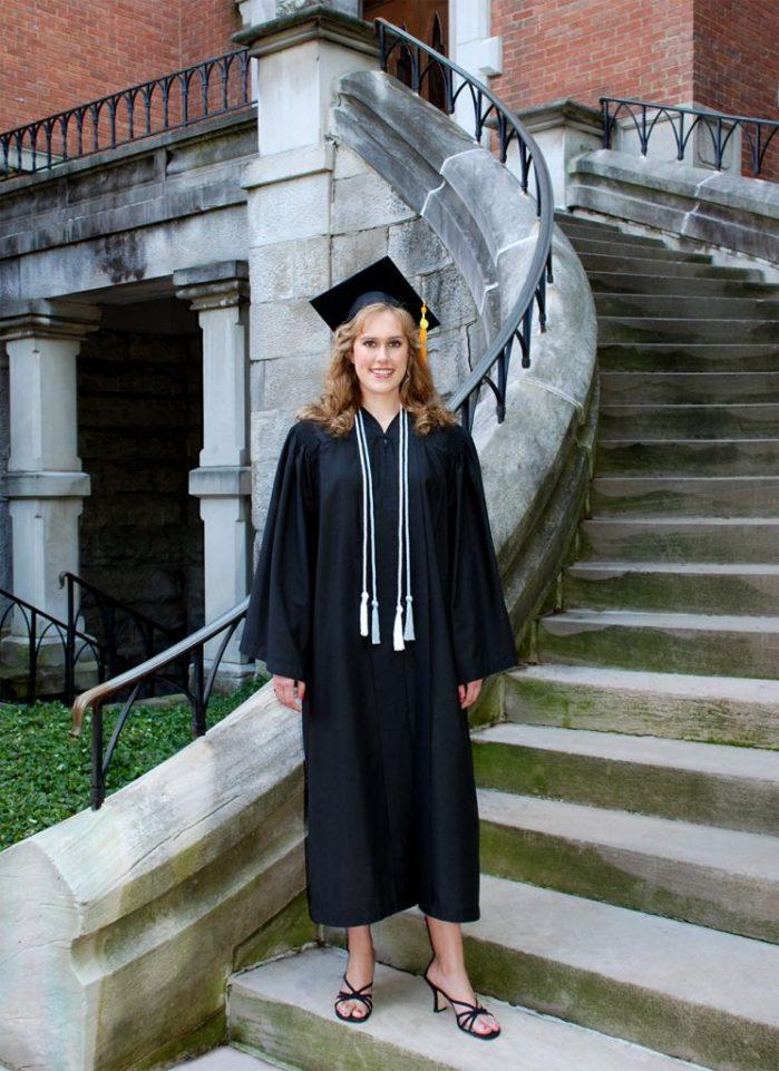 Graduation-cap-and-gown pic at Vanderbilt