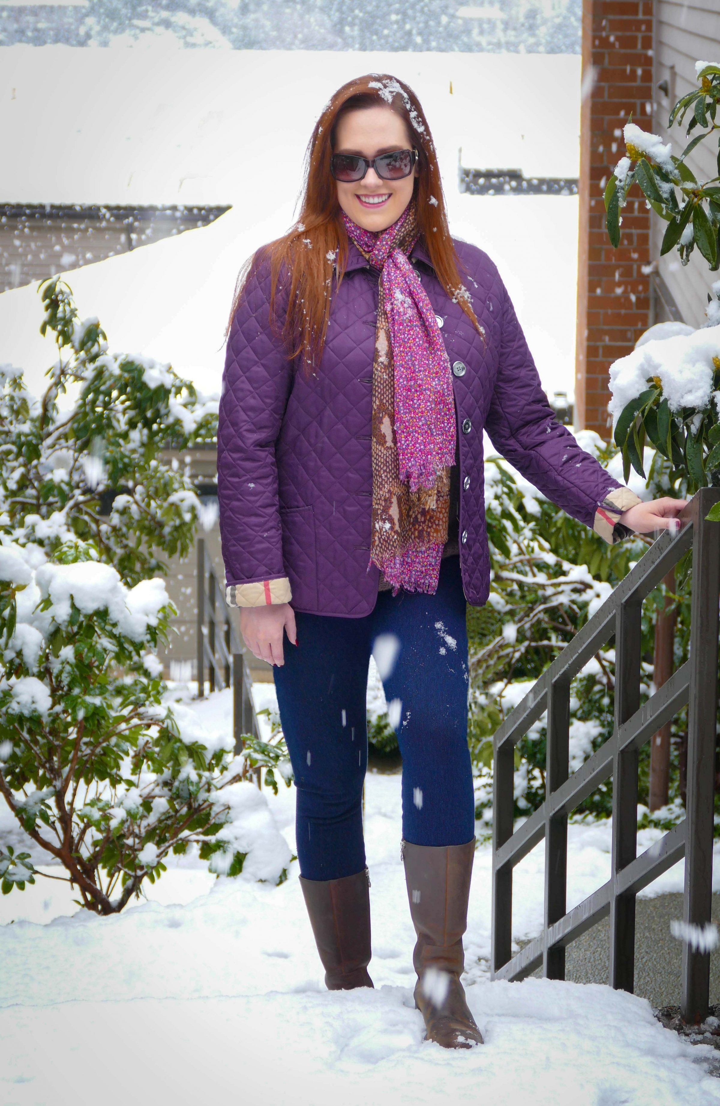 Snowing in Seattle - Katherine Chloe Cahoon E